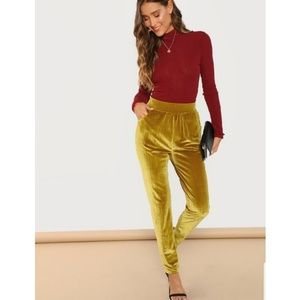 Shein Mustard Velvet Pants